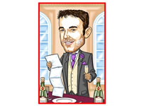 Best Man Caricatures